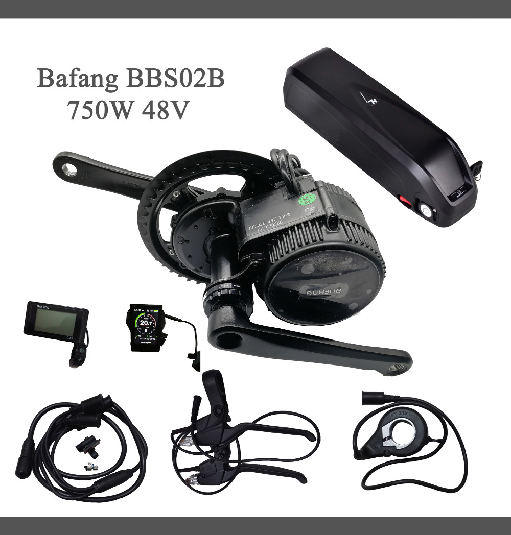 5d946217ec9 EU US No tax BBS02 48V 750W Bafang mid drive electric motor kit with 48V  13Ah