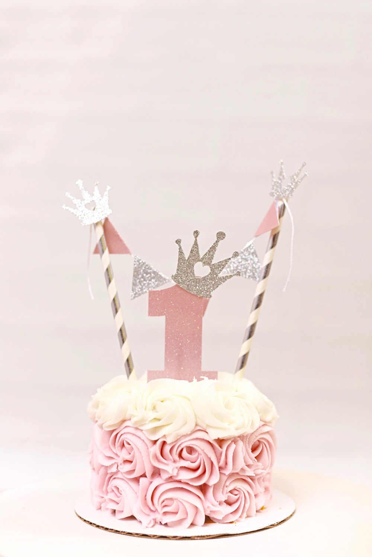 Detail Feedback Questions About 1set First Birthday Princess Cake Topper Party Smash Decor Smashcake