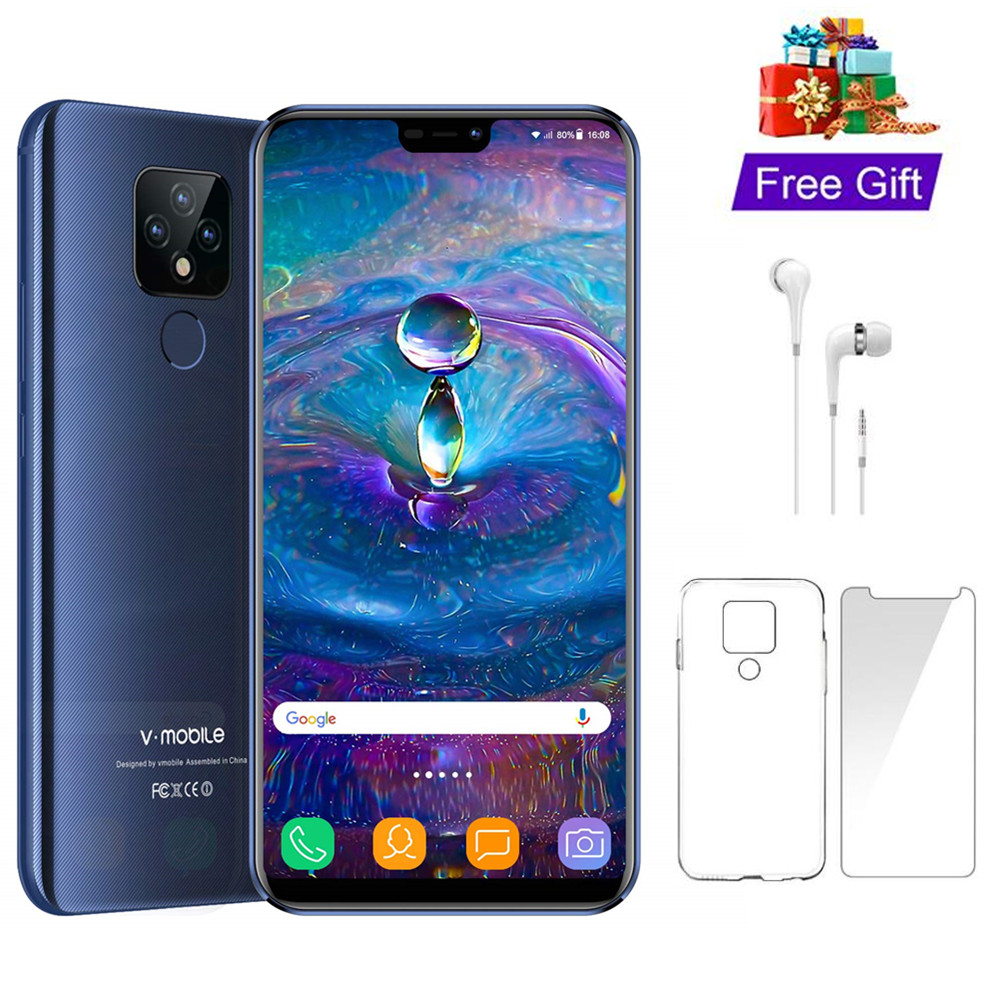 "TEENO VMobile Mate 20 Mobile Phone Android 7.0 3GB+32GB Fingerprint ID 5.84"" 19:9 HD Screen 4G Smartphone unlocked Cell Phones-in Cellphones from Cellphones & Telecommunications"
