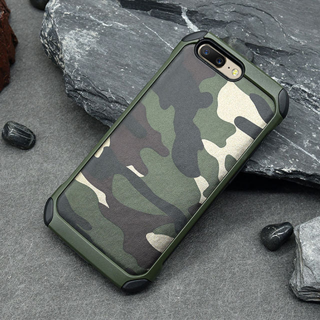 hot sale online e5d62 9b3d5 US $4.99 |Aliexpress.com : Buy New Army Camo Camouflage Pattern back cover  Hard Plastic TPU Armor Anti knock protective cases For OnePlus 5 One Plus  ...