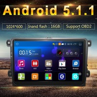 2 Din Android 5 1 Car GPS DVD Player Radio With 16GB 1G DDR3 4 Core