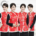 red Traditional Chinese Clothing for woman vest Tops underwaist