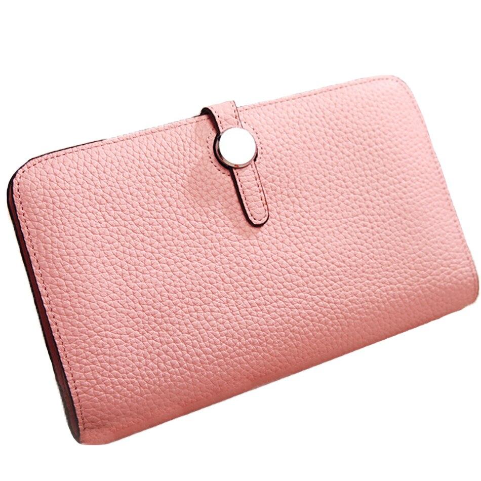 Модные женские кошельки из натуральной кожи, длинный дизайн, дневной клатч для женщин, сумка для денег с узором Личи, кошелек для монет, держ