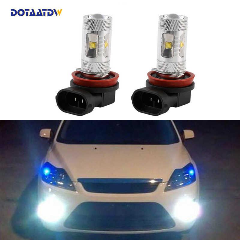 DOTAATDW 2x чрезвычайно яркая H8 H11 светодиодная противотуманная фара DRL лампа для FORD