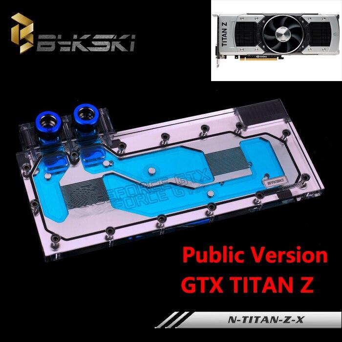 bilder für Bykski Öffentliche Version Full Cover Grafikkarte Wasserkühlung Block verwenden für NIVDIA TITAN-Z Kühler Block GPU RGB Licht