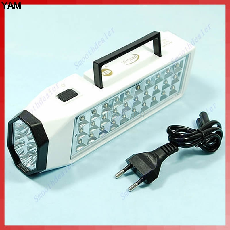 38 LED Rechargeable Emergency Light Lamp High Capacity