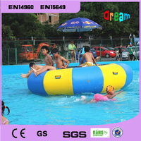 Free Shipping 2m 0.9mm PVC Inflatable Water Trampoline Water Jumping Bed Jumping Trampoline Come Free a Pump