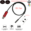 7mm 1M Cable 6 Led MircoUSB Android OTG USB Endoscope Camera IP67 Waterproof Snake Tube Pipe Android USB Borescope Not Ip Camera