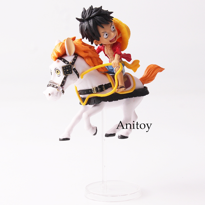 Anime One Piece 20th Anniversary Monkey D Luffy Horse Riding PVC Figure Collectible Model Toy 8cm 1
