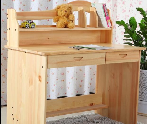 Mesa de madera maciza escritorio para los ni os aprender - Como hacer una mesa de ordenador ...