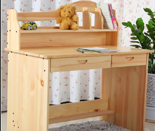 Mesa de madera maciza escritorio para los ni os aprender - Mesa escritorio madera ...
