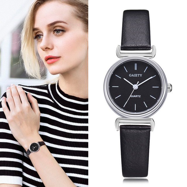 Fashion Exquisite Small Simple Women Dress Watch Leather Female Clock Women's Mi