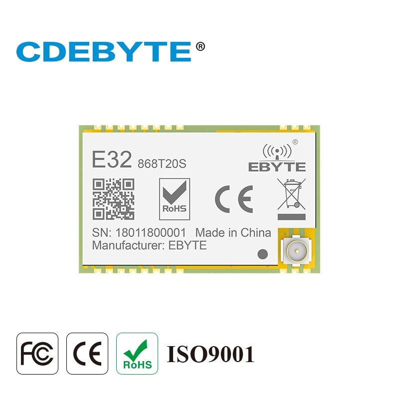 SX1276 LoRa 868 MHz 100 mW SMD émetteur-récepteur sans fil CDEBYTE E32-868T20S 868 mhz TTL émetteur et récepteur IPEX longue portée
