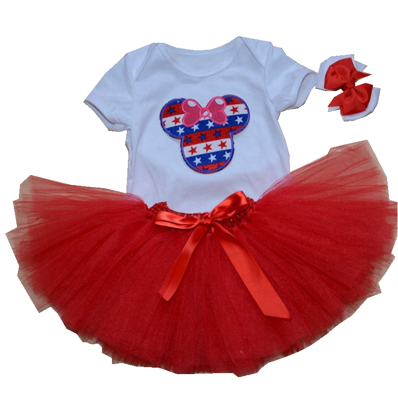 Cute Minnie Newborn Tutu Sets Baby Girl Bodysuits Skirts Headband Girls 3 Piece Outfits Toddler Tutus Clothes Infant Clothing