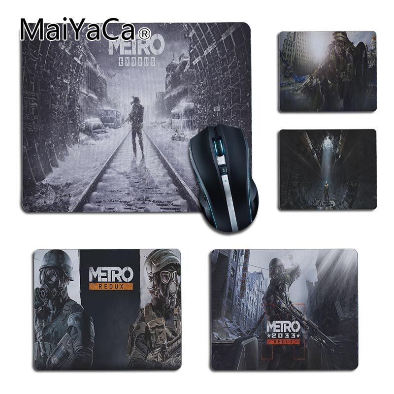 MaiYaCa High Quality Metro 2033 Wallpaper Office Mice Rubber Game Gamer Mouse Pad Gaming Mouse Pad PC Computer Mat Desk Mat