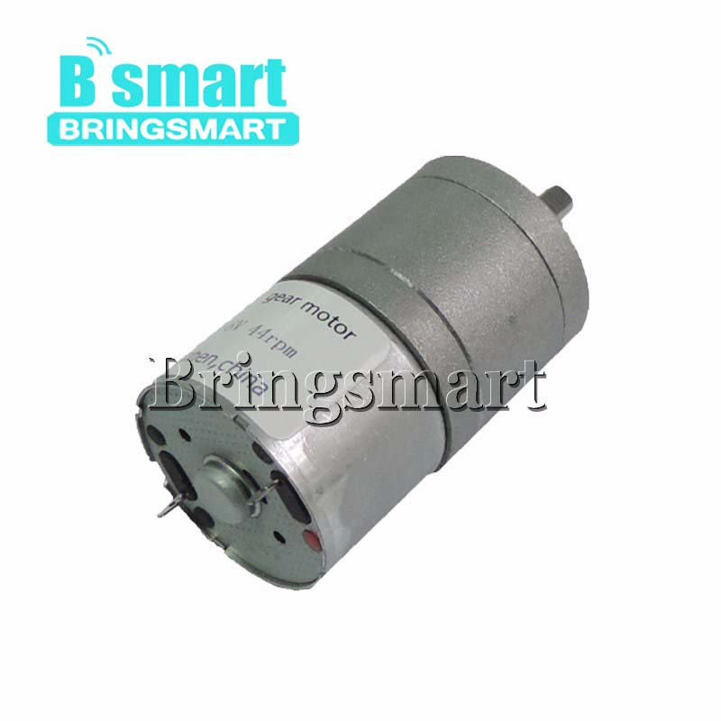 Bringsmart JGA25-310 DC Motor 12V High Torque Gear Motor 6V Mini Electric Motor Reductor Reversible Gearbox Micro Engine for DIY все цены