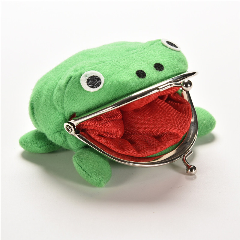 10X12CM Narutos Weapon Frog Shape Cosplay Soft Furry Coin Purse Wallet