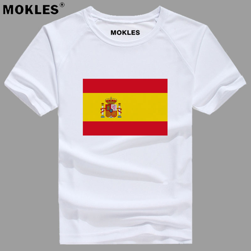 SPAIN t shirt diy free custom made name number esp T-Shirt nation flag es spanish country college print photo logo text clothing