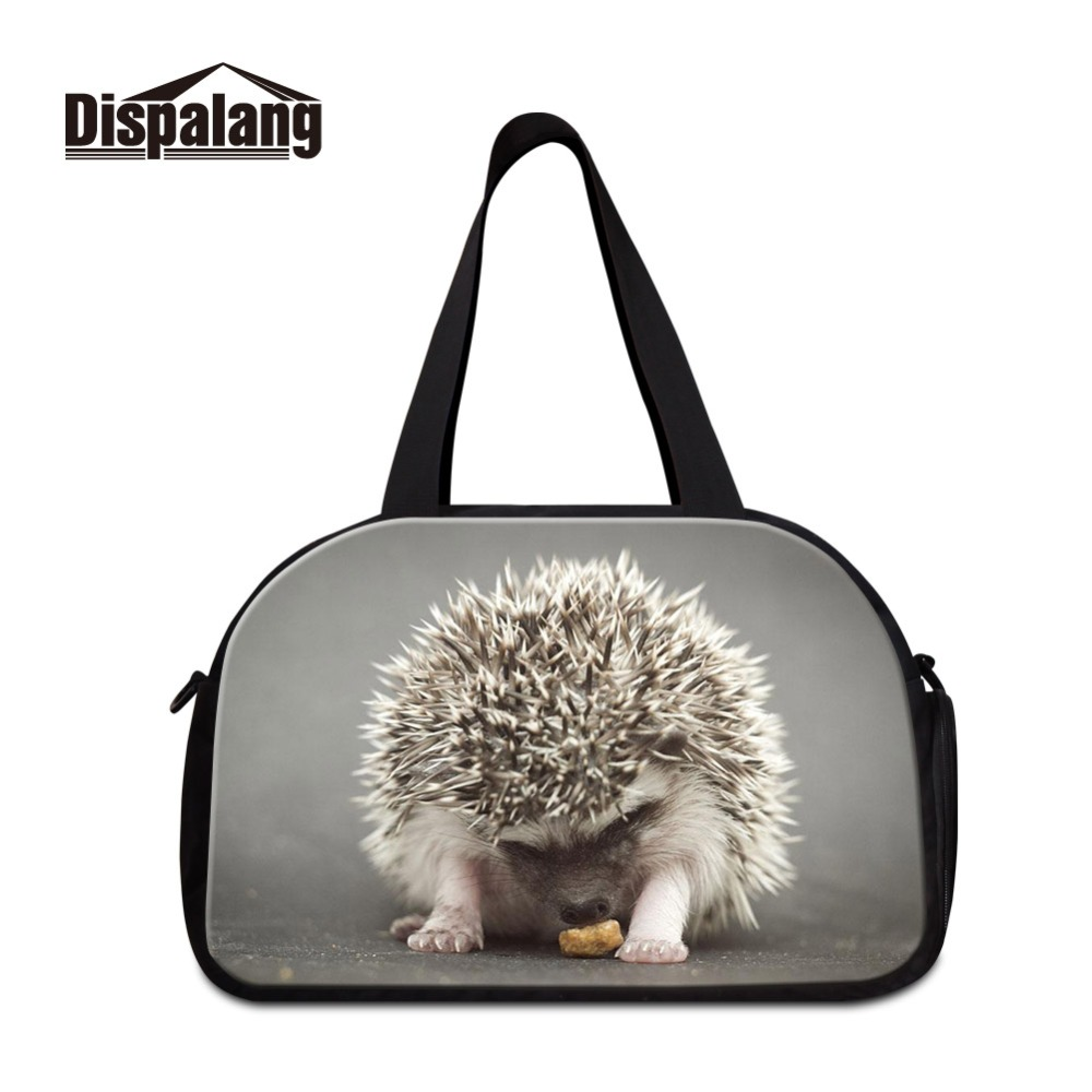 Business Use and Can be Customized Color Very Good Quality Cotton Material Hedgehog Big Capacity Normcore Travel Totes for Lady