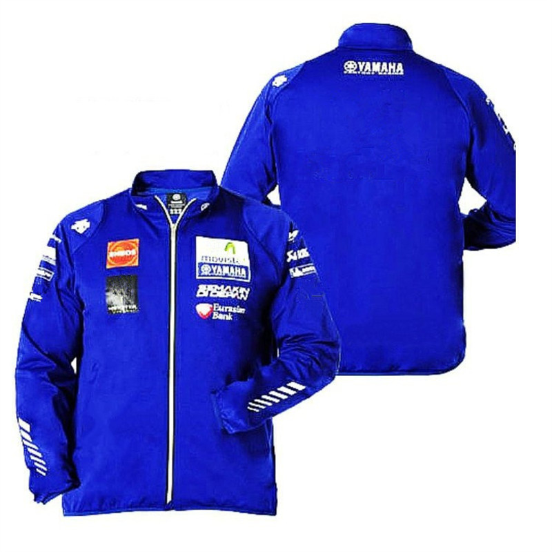 MotoGP Racing Team Uniform Jacket For Yamaha M1 Racing Team Printing Zip-up Windbreaker Lightweight Moto Jacket 2017 valentino rossi vr46 for yamaha racing blue motogp mens felpa zip up sweater