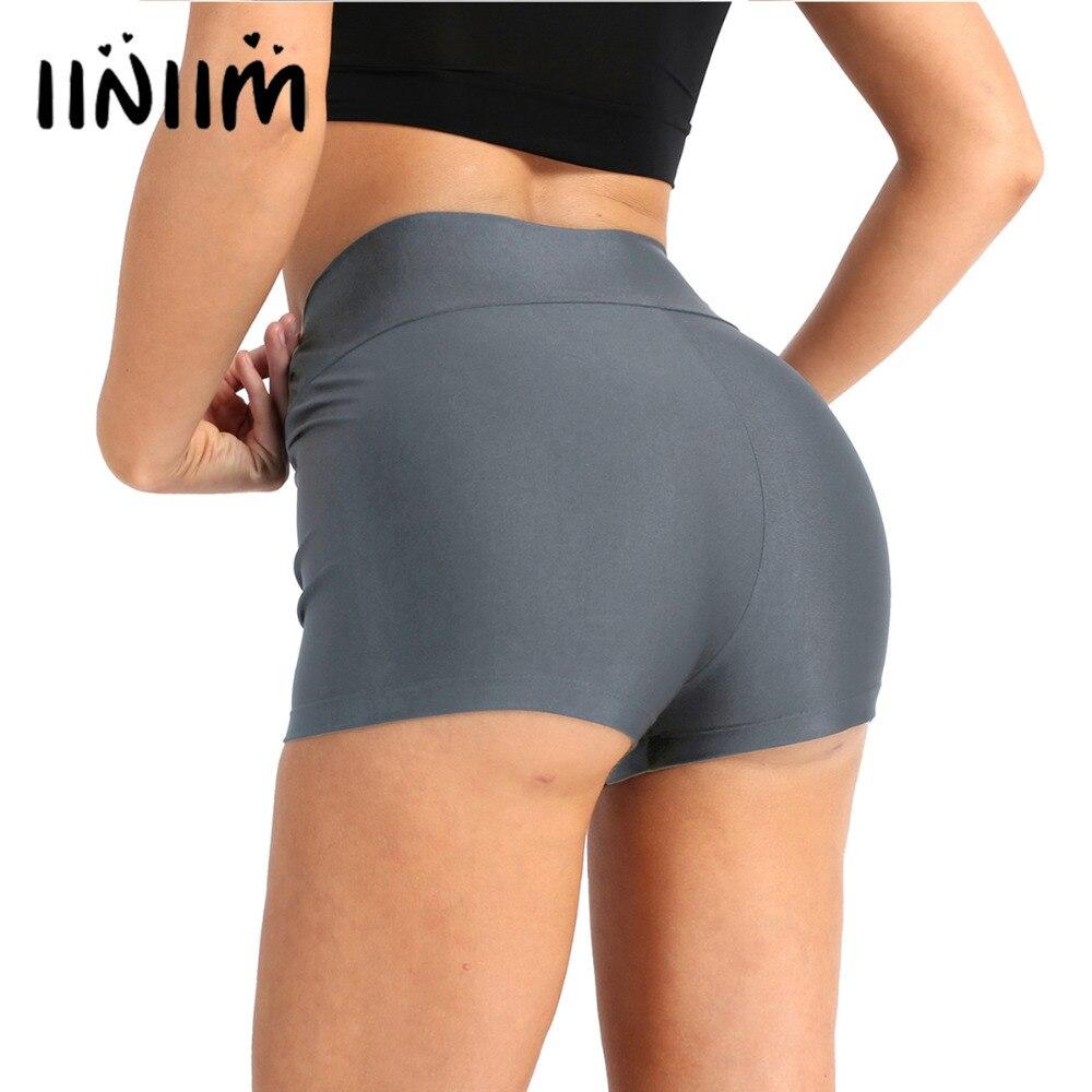 iiniim Women Adult Summer Shorts for Gymnastics Leotard Femme Dancwear High Waist Skinny Short Costume Swimsuit for Dancing