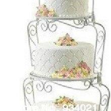 3 уровня железа/нержавеющая сталь торт стенд для свадебной вечеринки, Висячие торт стенд