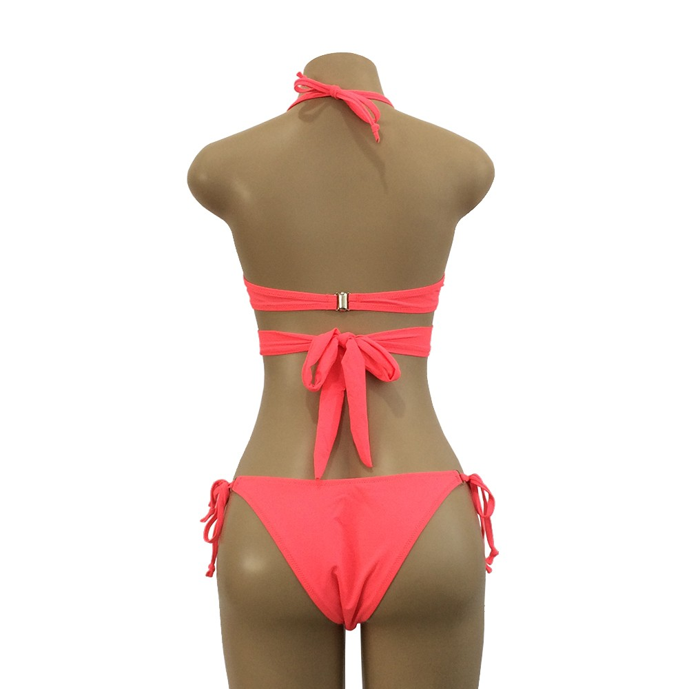 MUQGEW 3 color Bather Sexy high cut bikini set 2018 swimsuit Criss Cross swimwear women bikini bathing suit swim wear biquini