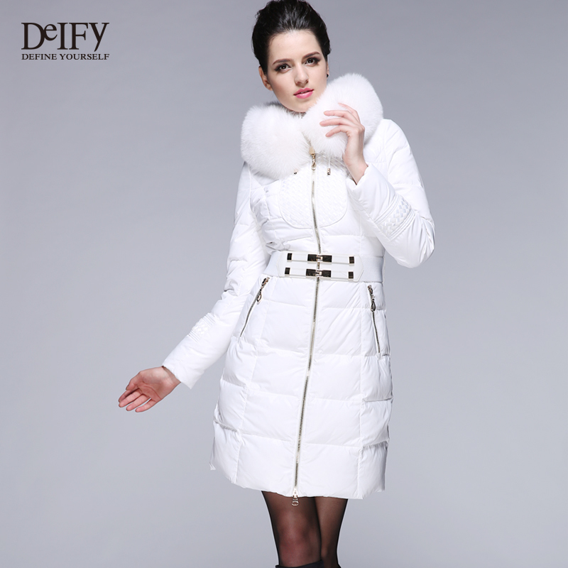 40 Degree Luxury Winter Down Coat Fox Fur Hooded Collar Thicken ...