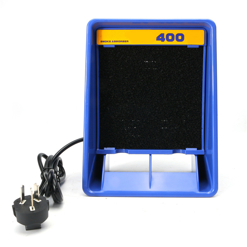 1pc Solder Smoke Absorber 220V Remover Fume Extractor Air Fan Of Soldering Fume Extractor For Electric Soldering Iron Works soldering iron exhaust fan bga soldering station repair tools solder smoke exhauster remover fume extractor with led lighting