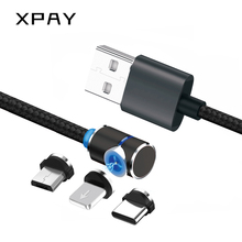XPAY Magnetic Micro USB Cable For iPhone Samsung Type-c Charging Charge Magnet Charger Adapter C Type Mobile Phone Cables