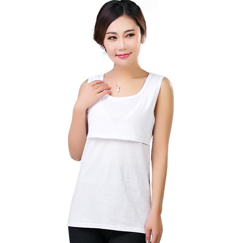 e1538d52f59 Summer Cotton Maternity Nursing Tank Top Breastfeeding Clothes Pregnant  Women Nurse Wear Lactate Feeding T-shirt Plus Size | The Brand Shop