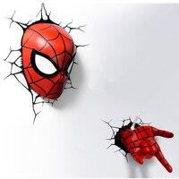 3D Lamp Led Gradient Night Light Lampara Superhero Man Figure Spider man Creative Festival Kid Birthday 22CM