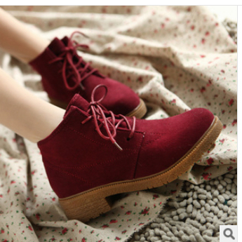 new 2014 ladies vintage casual shoes women fashion ankle boots flat heel motorcycle boots artifical leather shoes drop XZ13