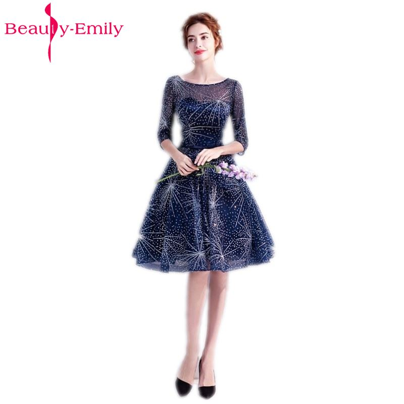 Beauty-Emily Short Royal Blue Prom Dresses 2018 A-Line Prom Gown ...