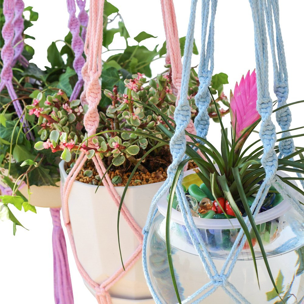 Colorful Macrame Plant Hanger Hanging Planter Holder Basket For Garden Flower Pot Indoor Outdoor Decoration 40 Inch 1m In Pots Planters From Home