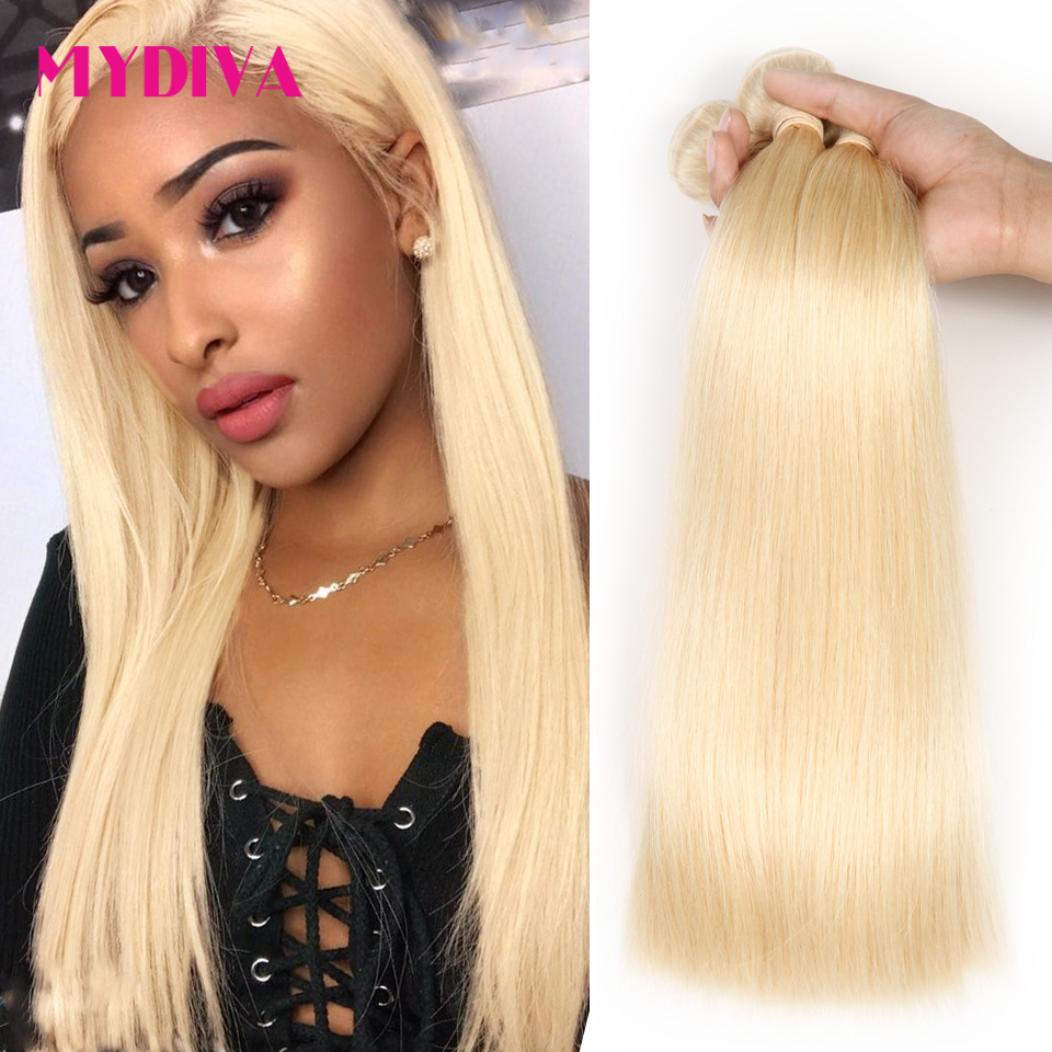 613 Blonde Hair Bundles Brazilian Hair Weave Bundles 100