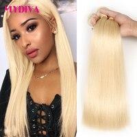 613 Blonde Hair Bundles Brazilian Hair Weave Bundles 100% Honey Straight Human Hair Extensions No Shed Tangle Remy Hair Mydiva