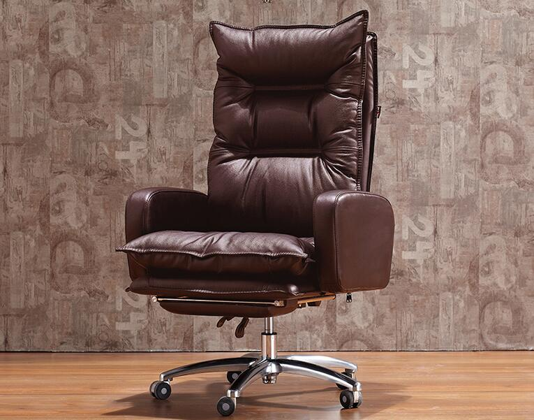 Купить с кэшбэком Boss chair. Real leather electric chair. Reclining computer chair. Home office chair.036