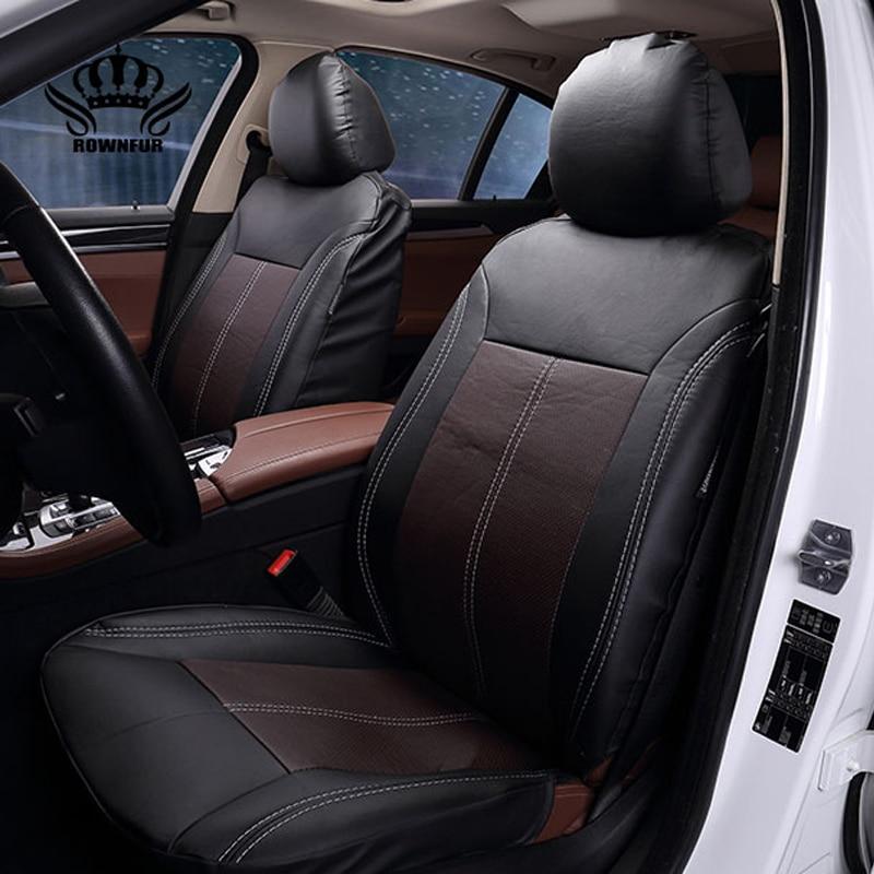 2017New Luxo PU Couro Auto Universal Assento de Carro Cobre tampa de assento do Automóvel para o carro peugeot 206 para carro lada kalina em quente