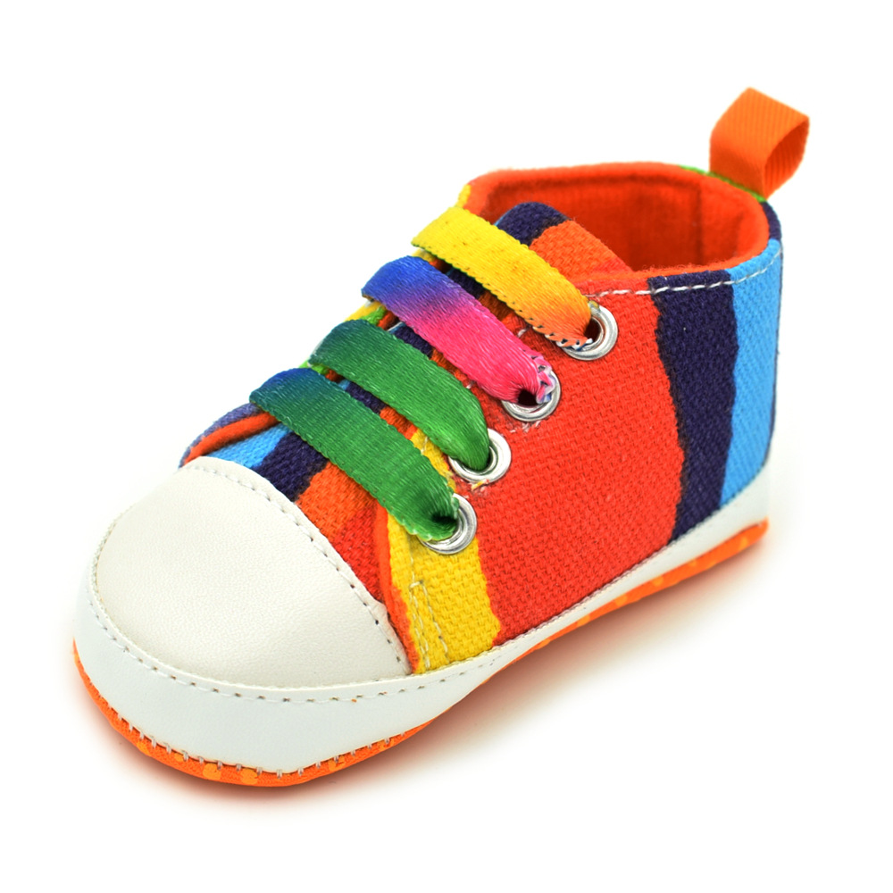 0 18 Months Newborn shoes 13 Style printed Canvas shoes for girls casual Baby schoenen Baby anti slip shoes in First Walkers from Mother Kids