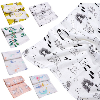 Muslinlife 2019 New Style Bamboo Cotton Baby Blanket Bibs Bandana Soft Infant Burp Cloths Kerchief Newborn Wrap Swaddle Scarf