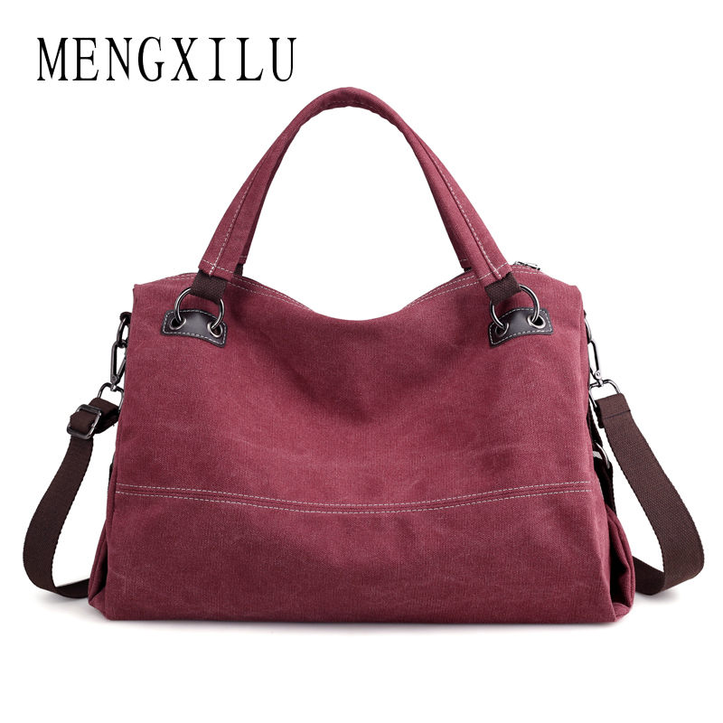 MENGXILU Big Canvas Bags Handbag Women Famous Brand Designer Female Large Shoulder Bag Ladies Casual Totes Bag Women Handbags famous brand women canvas bags shoulder bag italy handbag style retro handmade bolsa feminina braccialini for ladies mexico bags