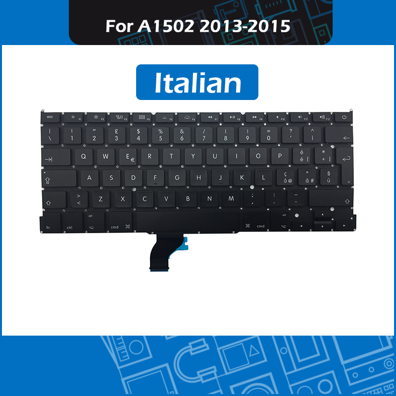 10pcs/lot Laptop IT Italian Layout For Macbook Pro Retina 13 A1502 Italy keyboard Replacement 2013 2014 2015 Year image