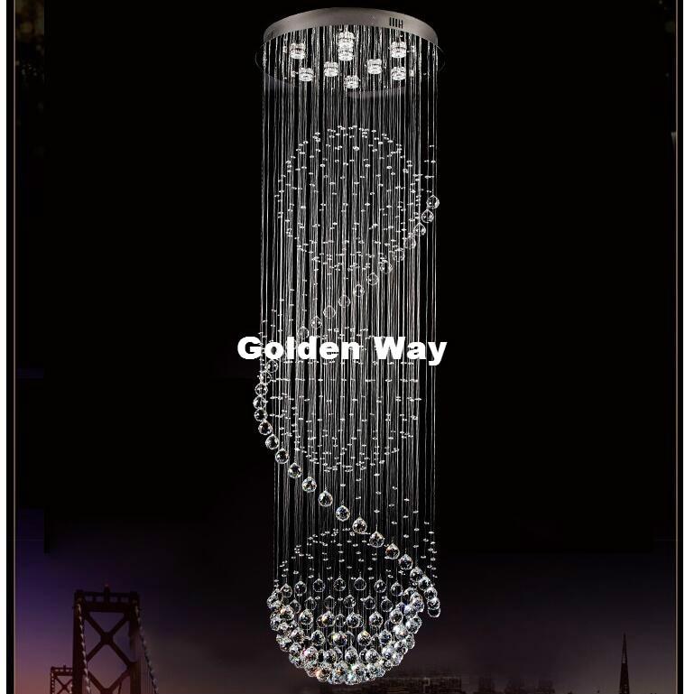 c2cc1374e50 Modern Crystal Pendant Lights Sprial Crystal Lighting Luminiare ...