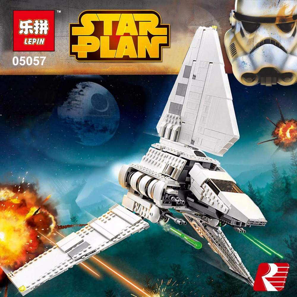 Lepin 05057 977Pcs Star Series War New the legoing The Fighting Shuttle Set Model Building Kit Blocks Bricks Toy Gift With 75094 fashion children dresses for girls princess dress brand lace long party birthday clothes costume kids unicorn tutu summer dress