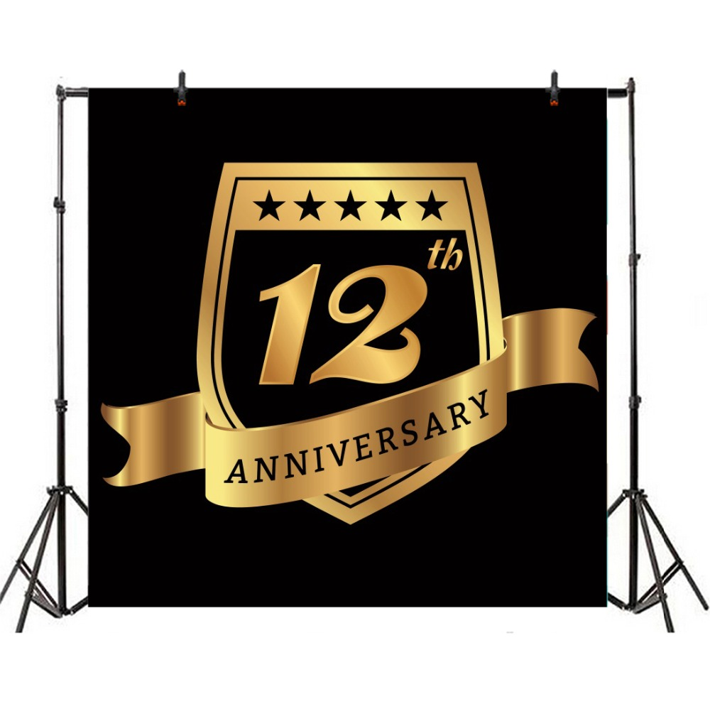 Laeacco Happy 12th Birthday Party Scene Teenager Photography Backgrounds Customized Photographic Backdrops For Photo Studio