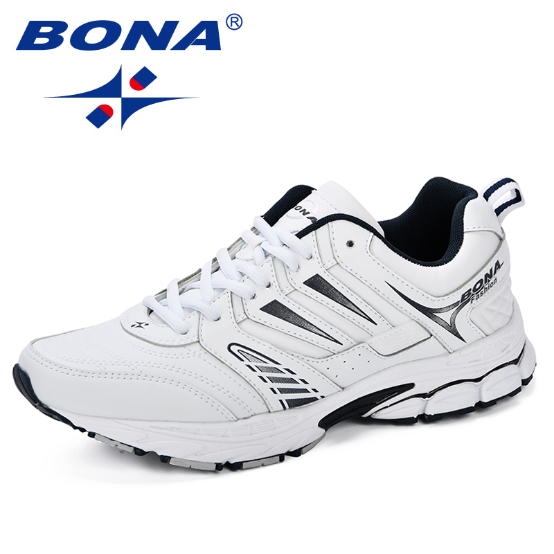 BONA 2018 New Design Style Men Shoes Breathable Popular Men Running Shoes Outdoor Sneaker Sports Shoes Comfortable Free Shipping