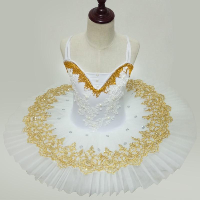 White Professional Ballet Tutu Classical Ballet Leotards For Women Performance Clothing Competition Girls Tutus Ballerina Dress