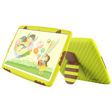 Irrompible de la tableta de 10 pulgadas Android 5.1 wifi Tablets pc para Niños WiFi Quad core de Doble Cámara de 16 GB con silicona cubre
