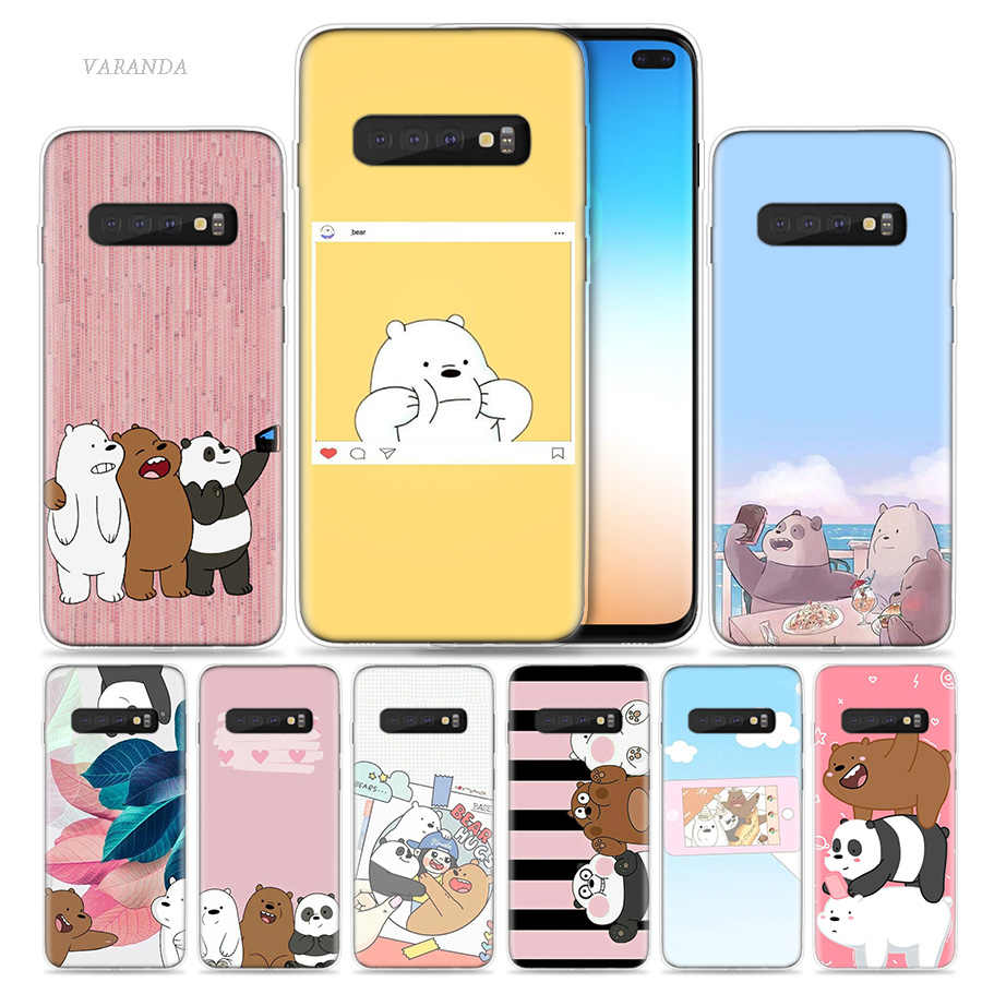 We Ice Bare Bears Case for Samsung Galaxy S8 S9 S10 5G S10e S7 Note 8 9 10 J4 J6 Plus J5 J8 2018 J3 Silicone Cartoon Phone Bags